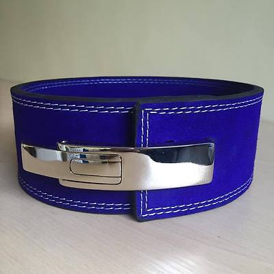 Blue Weight Lifting Lever Belt Training Inzer Strap Power Lifting 10mm.