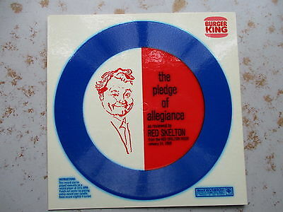 The Pledge of Allegiance As Reviewed by Red Skelton, 1969 Burger King, UNUSED