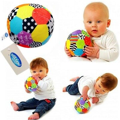 Playgro Baby Toddler Kid Child Soft Stuffed Plush Rattle Soccer Ball Crib Toy 0+