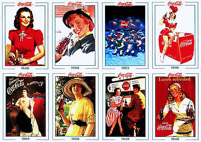 COCA-COLA 100-CARD SERIES 2 COKE TRADING CARD SET ADS & ART 1993 Collect-A-Card