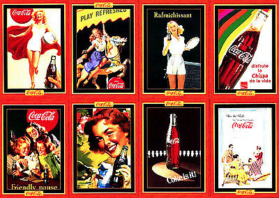COCA-COLA 100-CARD SERIES 4 COKE TRADING CARD SET ADS & ART 1995 Collect-A-Card