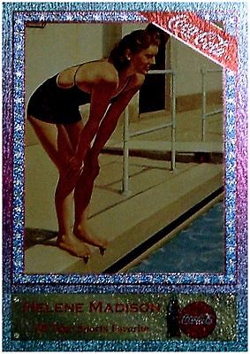 COCA-COLA SF-5 HELENE MADISON Rare Sports Favorite Foil Chase Card SF5 SWIMMING