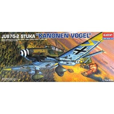 "Academy 1/72 JU87G-2 STUKA ""Kanonen Vogel"" Kit (New)"