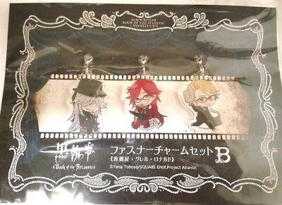 Black Butler Book of the Atlantic Charm x3 Grell Undertaker Knox Square Enix F/S
