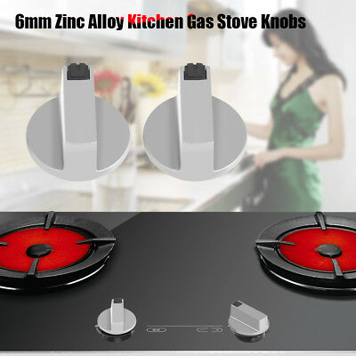 Home Kitchen Round Base Metal Gas Cooktop Oven Range Stove Knobs 2/4 PcsTP