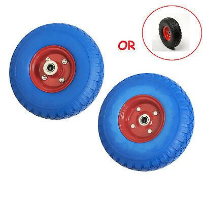 """2pc Hand Truck Dolly Replacement 10"""" Flat Free Tire w 5/8"""" Bearing Filled w/Foam"""