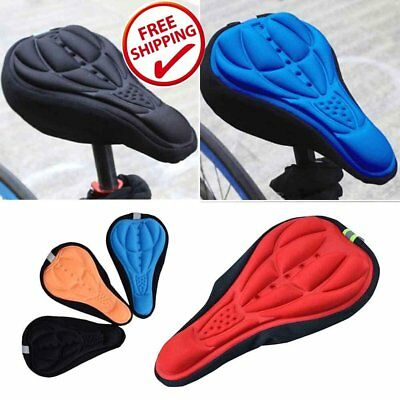 Thick Cycling Bike Bicycle 3D Gel Silicone Saddle Seat Pad Soft Cushion Cov WM