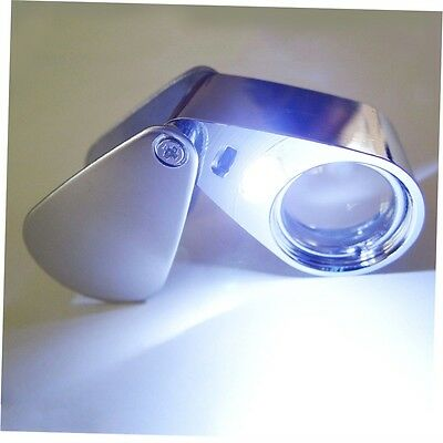 20X Lighted LED Illuminated Jewelers Jewelry Loupe Magnifying Glass Magnifier WM