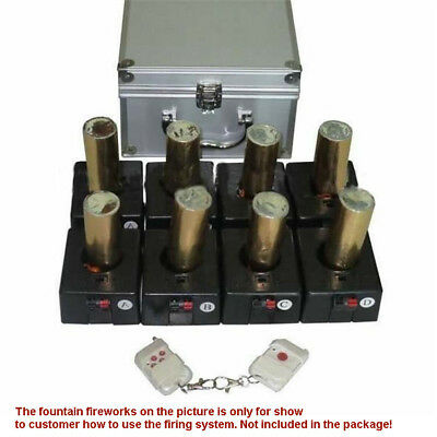 Wireless fireworks firing system 2 Remot +8 cues stage fountain+rechargeable