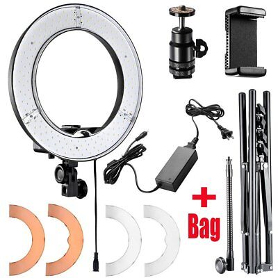 "240LED 18"" Ring Light Studio Video Photography Kit +Carrying Bag  +Light Stand S"