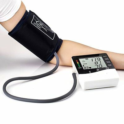 Digital LCD Wrist Blood Pressure Monitor Heart Beat Rate Pulse Measure Device MW