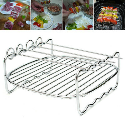 Replacement Double Layer Skewers Baking Tray For Philips Air Fryer HD9904 HD9232