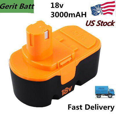 Replacemnet for Ryobi 18V Battery 3.0AH NiMh One+ ABP1801 ABP1803 P100 P105 P101