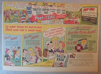 Post Cereal Ad: Albums For Youngsters! Premium 1930's-1940's 11 x 15 inches
