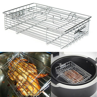Replacement Steak Cage BBQ Fish Chicken Grilling Mesh Rack For Philips Air Fryer