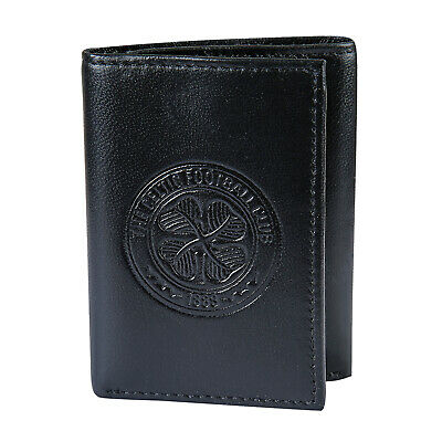 Celtic FC Official Soccer Gift Embossed Crest Leather Money Travel Wallet