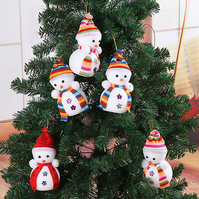 6x Cute Snowman Ornaments Festival Party Xmas Christmas Tree Hanging Decorations