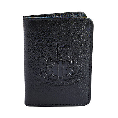 Newcastle United FC Official Football Gift Embossed Crest Leather Travel Wallet