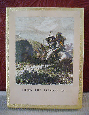 50 Vintage Sealed Antioch Bookplates Native American Indian Warrior Gummed #2