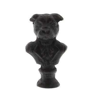 Whimsical Antique Style Dog Cast Iron Bust |Pug Bulldog Set Mini Statue Animal