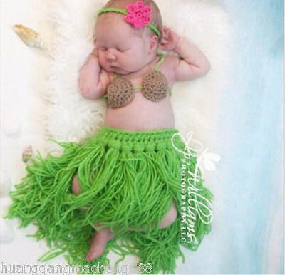 Newborn Baby Girl Boy Crochet Knit Costume Photo Photography Prop Hat Outfits 13
