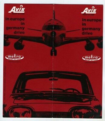 Avis & Metro  Rent A Car Europe & Germany Booklet 1963 Mercedes