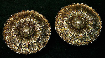 "Extra Large Pair Sheryle Wagner or Guerin HOLLYWOOD Door Knobs 7"" Reclaimed"