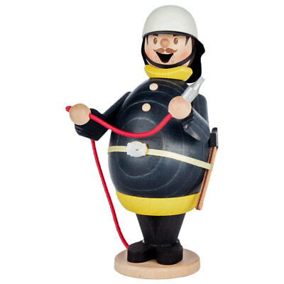 Fireman Wooden German Incense Burner Smoker -  Fire Fighter - Made in Germany