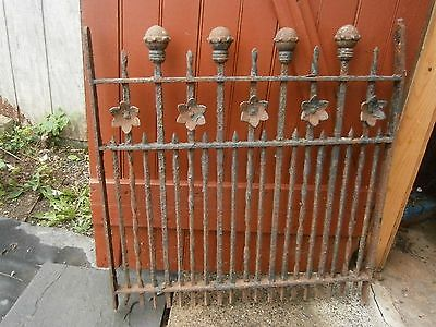 Antique Cast Iron Window Gate Garden Decor