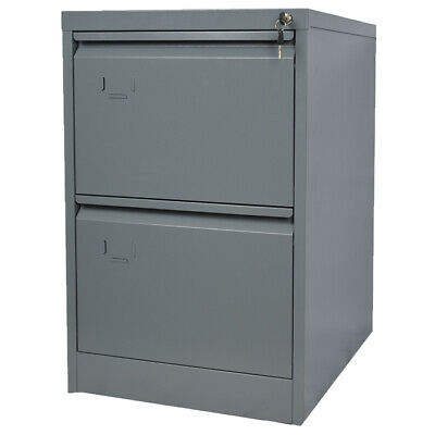 Metal Steel 2 Drawer Filing Cabinet Metal Lockable