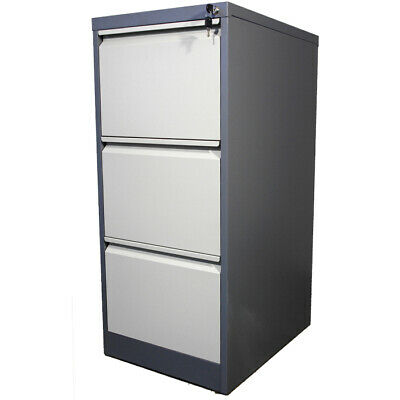 Metal 3 Drawers Filing Cabinet Steel Lockable Heavy Duty Steel Three