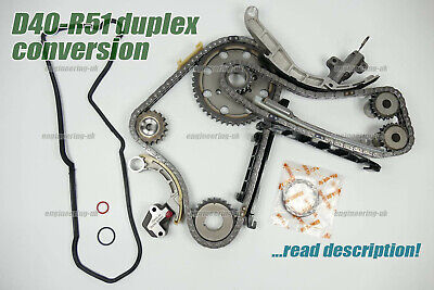 NISSAN NAVARA D40 2.5 DCi YD25DDTi DUPLEX TIMING CHAIN KIT CONVERSION UPGRADE