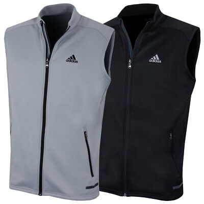 Adidas Golf Mens 2017 Full Zip Crested Climaheat Insluated Fleece Gilet Vest