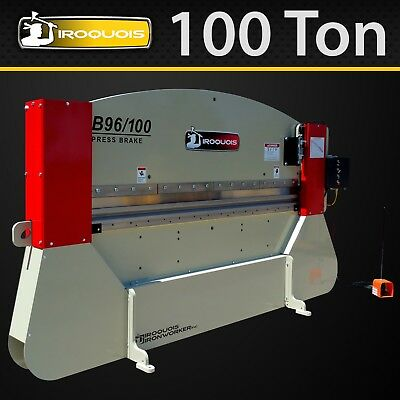 "96"" Iroquois Hydraulic Press Brake, 100 Ton, Manual Control,  MADE IN USA!"