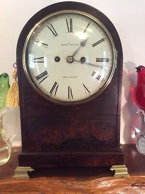 Regency Bracket Clock in Rosewood with Twin Fusee Fully Serviced