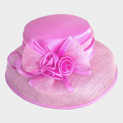 Womens 100% Sinamay Flower Box Hat Wedding Church Kentucky Derby - USA Seller