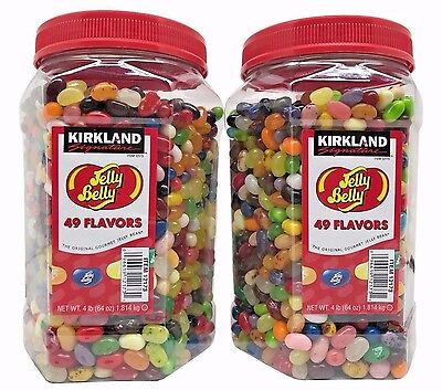2 Pack Kirkland Signature Jelly Belly 49 Flavors Gourmet Jelly Beans Net. 8 LB