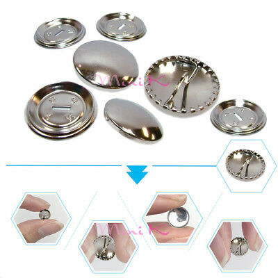 Metal Self Cover Buttons 15mm 19mm Brass Rustproof 5-200Pcs Fabric Cover New