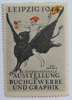 Poster Stamp - International Expo for Book Trade & Graphic Arts, Leipzig 1914
