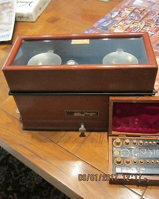 Vintage Apothecary Torsion Balance Scale,  with  Weights