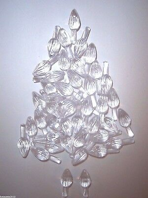 100 CLEAR SMALL TWIST BULBS Ceramic Christmas Tree Lights Replacement Pegs