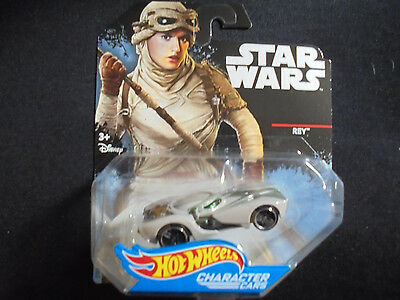 Hot Wheels Star Wars Die Cast Character Cars REY DXP50 2014 New Collectible Toy