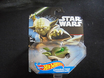 Hot Wheels Star Wars Die Cast Character Cars YODA DXP54 New Collectible Toy