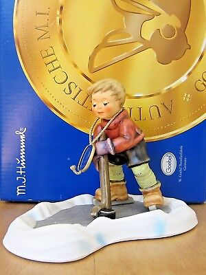 Hum 2143/b Let's Take To The Ice Tm8 Goebel Hummel Figurine Germany Nib S699