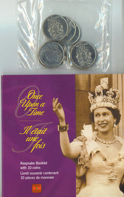 2002 CANADA  ONCE UPON A TIME Keepsake Booklet w/ 10 Golden Jubilee 50¢ Coins