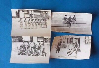 Lot of (4) WORLD WAR 2 or WWII PHOTOS/PHOTOGRAPHS SOLDIERS/INFANTRY