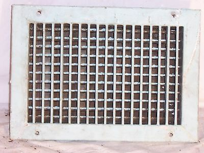 vintage heat grate vent register cold 14x10 RO12x8 grill cast steel mid century