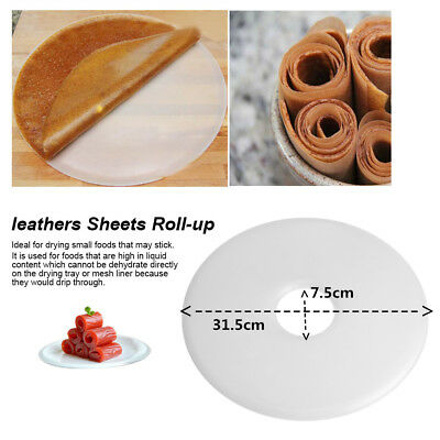 Flow Food Dehydrator Fruit Roll up Sheets Fruit Leathers Leather Sheets White TP