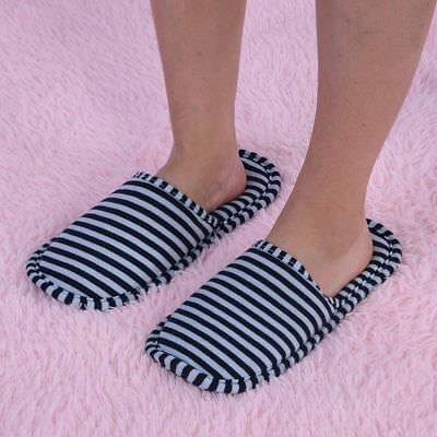 Travel Portable Foldable Reusable Indoor Soft Cotton Anti-slip Slippers DY