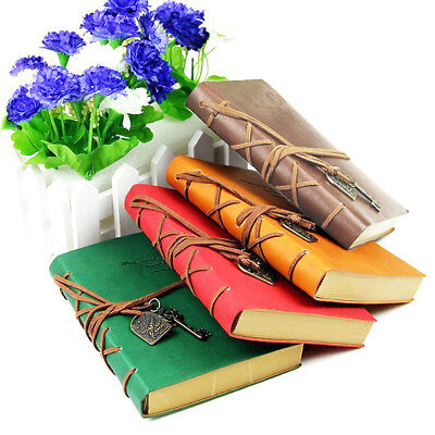 Retro Style PU Cover Blank Notebook Notepad Travel Journal Diary Sketchbook